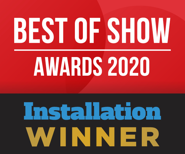Installation Best of Show at ISE